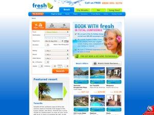 Fresh Holidays website
