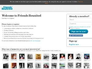 Friends Reunited website
