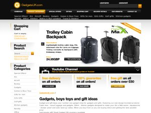 Gadgets UK website