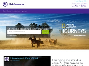 G Adventures (GAP Adventures) website