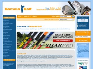 Gamola Golf website