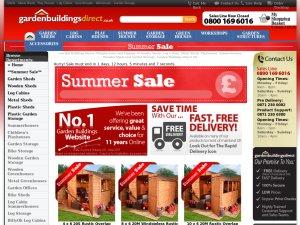 Garden Buildings Direct website