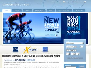 Garden Hotels website