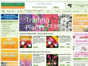 Gardening Direct website