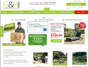 Gardens and Homes Direct website