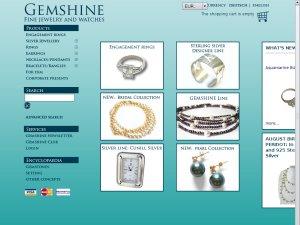 Gemshine Jewellery website