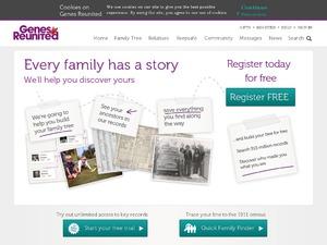Genes Reunited website
