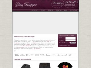 Glass Boutique website