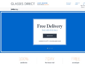 Glasses Direct website