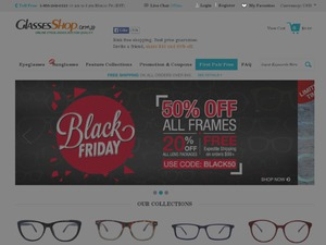 Glasses Shop UK website