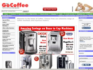 Go Coffee website