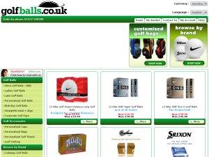 GolfBalls.co.uk website