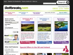 Golfbreaks website