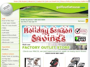 Golf Outlets website
