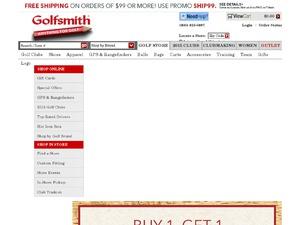 Golfsmith website