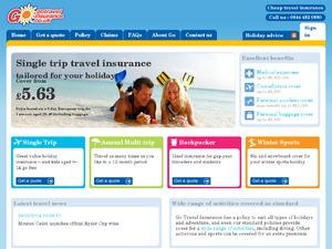 Go Travel Insurance website