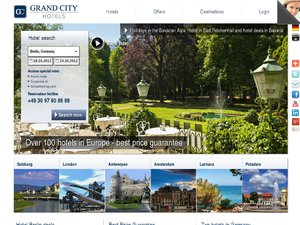 Grand City Hotels website