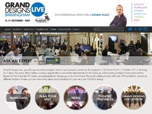 Grand Designs Live website