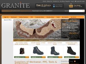 Granite Workwear website