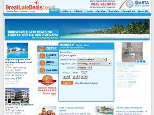 Great Late Deals website