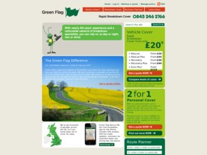 Green Flag website