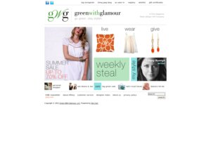 Green with Glamour website