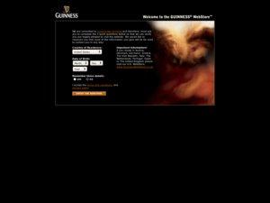 Guinness Webstore website
