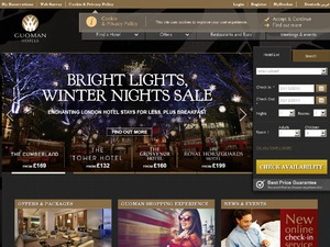 Guoman Hotels website