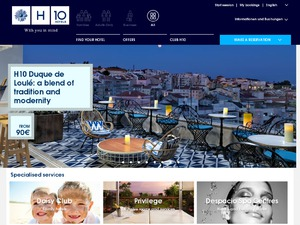 H10 Hoteles website