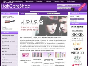 Hair Care Shop website