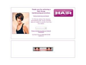 Hair Group website