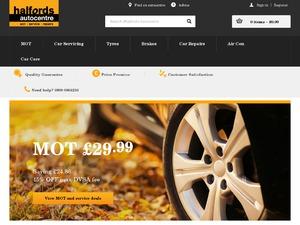 Halfords Autocentres website