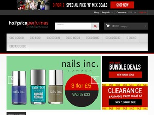 Half Price Perfumes website