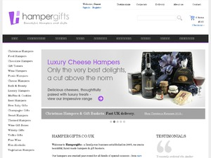 Hampergifts.co.uk website