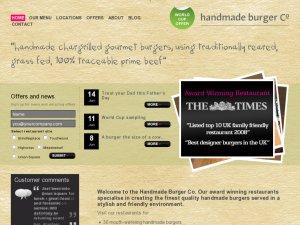 Handmade burger website