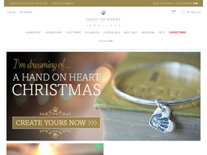 Hand on Heart Jewellery website