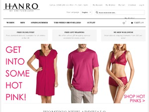 Hanro website