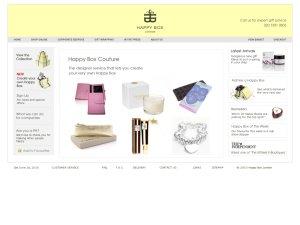Happy Box website