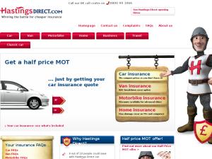 Hastings Direct website