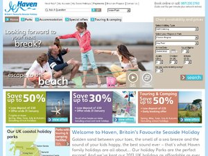 Haven Holidays website