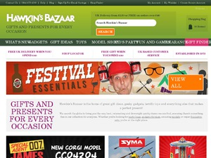Hawkin's Bazaar website