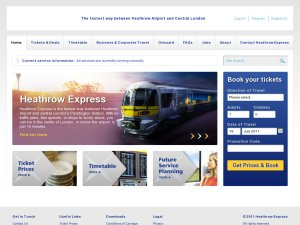 Heathrow Express website