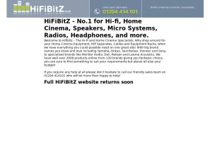 HiFiBitZ website