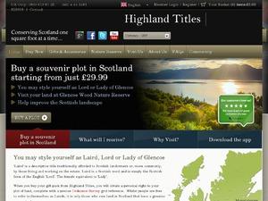 Highland Titles website
