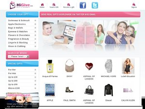 HiGive website