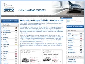 Hippo Vehicle Leasing website