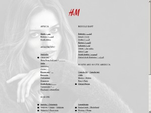 H&M website