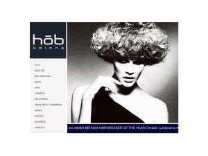 HOB salons website