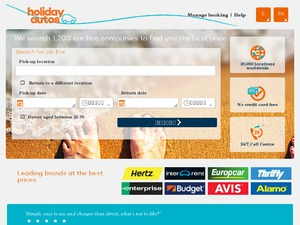 Holiday Autos website