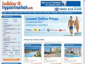Holiday Hypermarket website